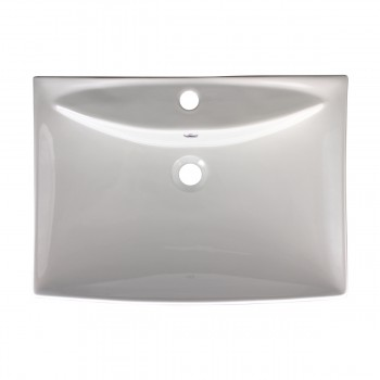 <PRE>Bathroom Sink White China Deluxe Square </PRE>zoom3