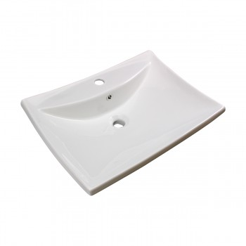 <PRE>Bathroom Sink White China Deluxe Square </PRE>zoom4