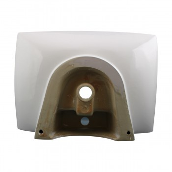 <PRE>Bathroom Sink White China Deluxe Square Wall Mount </PRE>zoom6