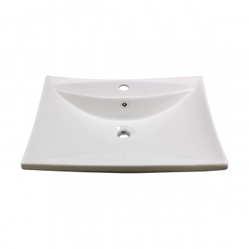 <PRE>Bathroom Sink White China Deluxe Square Wall Mount </PRE>zoom7