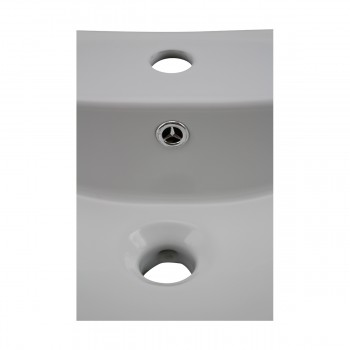 <PRE>Bathroom Sink White China Deluxe Square Wall Mount </PRE>zoom8