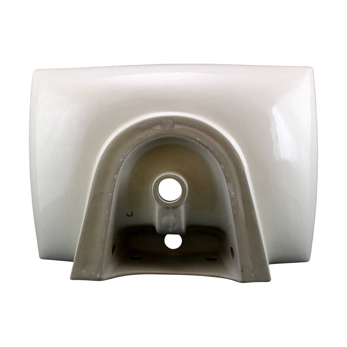 Renovators Supply Bathroom Sink Vitreous China Square Vessel Counter Top classic traditional vintage antique authentic modern contemporary diy ceramic porcelain basin remodel