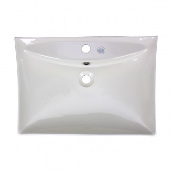 <PRE>Renovator's Supply Bathroom Sink Vitreous China Square Vessel Wall Mount </PRE>zoom3