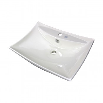 <PRE>Renovator's Supply Bathroom Sink Vitreous China Square Vessel Wall Mount </PRE>zoom4