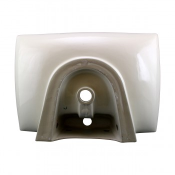 <PRE>Renovator's Supply Bathroom Sink Vitreous China Square Vessel Wall Mount </PRE>zoom7