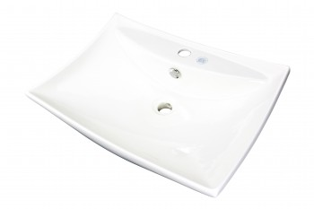 Bathroom Sink Bone China Deluxe Square Vessel Wall Mount13742grid