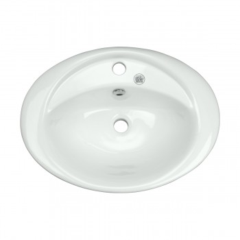 Bathroom Vessel Above Counter Sink White China Belle With Overflow bathroom vessel sinks Countertop vessel sink Bathroom Vessel Sink