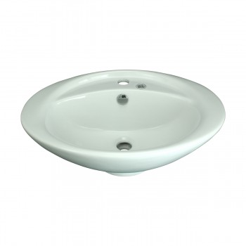 <PRE>Bathroom Vessel Above Counter Sink White China Belle With Overflow</PRE>zoom9