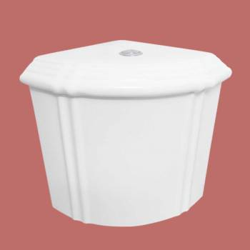 <PRE>White Dual Flush Corner Toilet Tank Grade A Vitreous China </PRE>