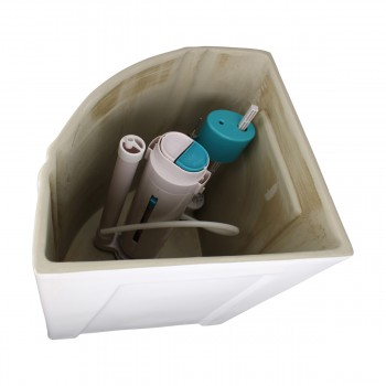Dual Flush Corner Toilet Tank Porcelain White Toilet Tank Only Corner Toilet Tank Dual Flush Toilet Tank