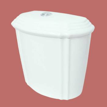 Toilets - White Sheffield Dual Flush Toilet Tank Only by the Renovator's Supply