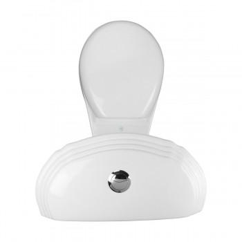 White Porcelain Dual Flush TwoPiece Bathroom Corner Toilet Round NoSlam Seat Corner Ceramic Toilet Dual Flush Toilet Bathroom Toilets