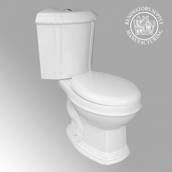 Sheffield Dual Flush Corner Toilet White Round Bowl - Corner sinks, corner sink info & unique corner accessories, quantity discounts on corner toilets, corner pedestal sinks, corner wall mount sinks, corner console sinks, counter top corner sinks, corner counter top sinks, glass corner pedestal sinks, corner cabinets, corner bathroom fixtures, corner bathroom sinks, corner sink faucets & free shipping by Renovator's Supply.