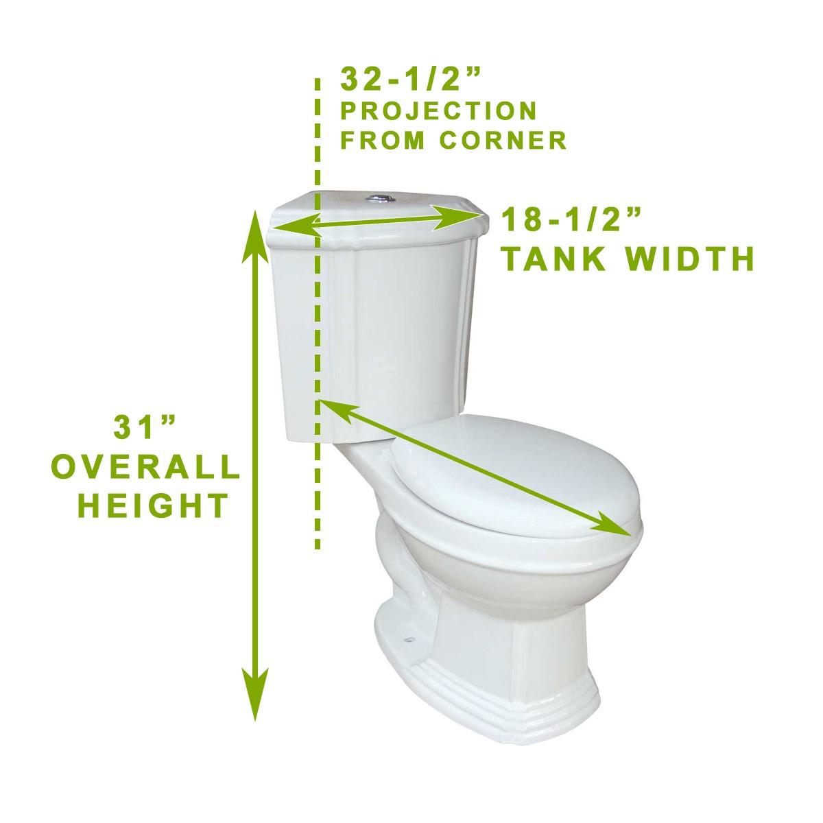 Dual Flush Water Saver Round Space Saving Corner Toilet