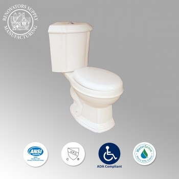 Toilets - Sheffield Dual Flush Corner Toilet  Bone Round Bowl by the Renovator's Supply