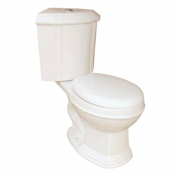 Dual Flush Round Space Saving Corner Toilet Bone China