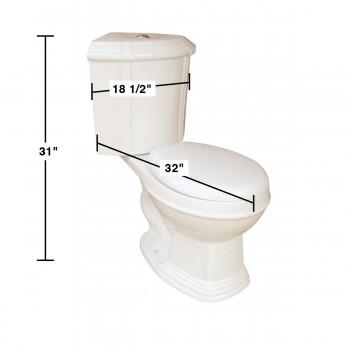 spec-<PRE>Dual Flush Round Space Saving Corner Toilet Bone China</PRE>