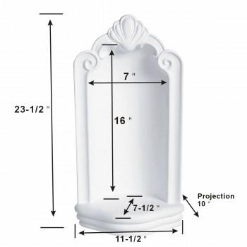 spec-<PRE>Niche White Urethane Foam Wall Corner 23 1/2 H X 11 1/2 W </PRE>