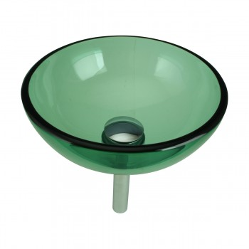 <PRE>Tempered Glass Vessel Sink with Drain, Green Mini Glass Round Bowl Sink</PRE>zoom3