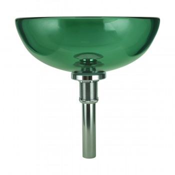 <PRE>Tempered Glass Vessel Sink with Drain, Green Mini Glass Round Bowl Sink</PRE>zoom4