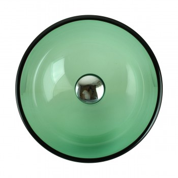 <PRE>Tempered Glass Vessel Sink with Drain, Green Mini Glass Round Bowl Sink</PRE>zoom8