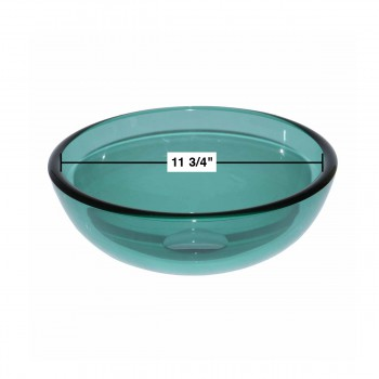 spec-<PRE>Tempered Glass Vessel Sink with Drain, Green Mini Glass Round Bowl Sink</PRE>