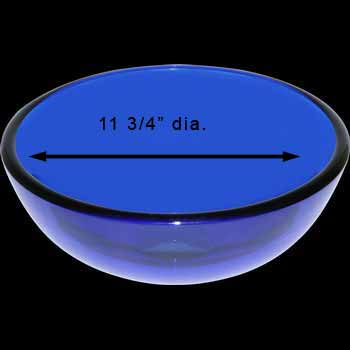 Vessel Sinks - Mini Glass Vessel Sink Piccolo Blue Round by the Renovator's Supply