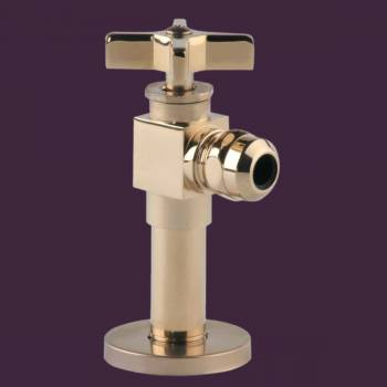 Toilet Angle Stop PVD Brass 1/2 FIP x 1/2 OD - Corner sinks, corner sink info & unique corner accessories, quantity discounts on corner toilets, corner pedestal sinks, corner wall mount sinks, corner console sinks, counter top corner sinks, corner counter top sinks, glass corner pedestal sinks, corner cabinets, corner bathroom fixtures, corner bathroom sinks, corner sink faucets & free shipping by Renovator's Supply.