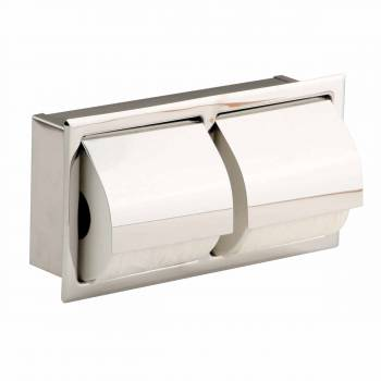 Toilet Paper Holder Recessed Stainless Double Tissue