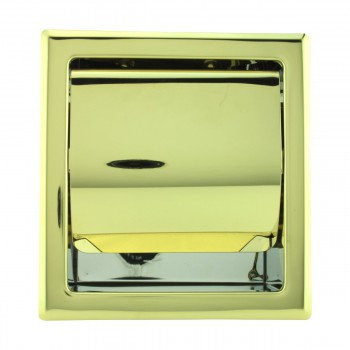<PRE>Recessed Toilet Paper Tissue Holder Gold Stainless Steel </PRE>zoom2
