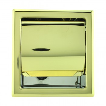 <PRE>Recessed Toilet Paper Tissue Holder Gold Stainless Steel </PRE>zoom3