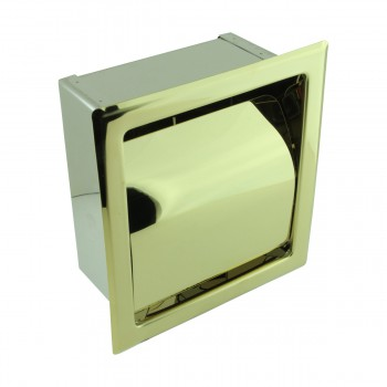 <PRE>Recessed Toilet Paper Tissue Holder Gold Stainless Steel </PRE>zoom4