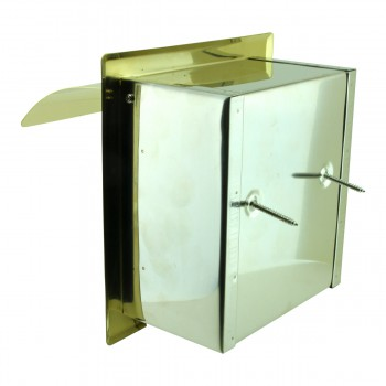 <PRE>Recessed Toilet Paper Tissue Holder Gold Stainless Steel </PRE>zoom8
