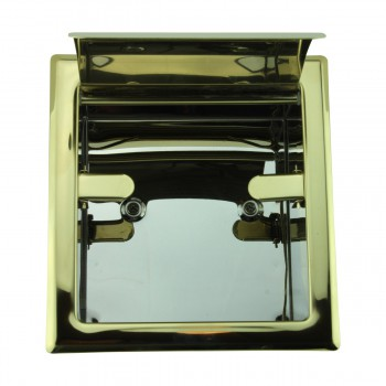 <PRE>Recessed Toilet Paper Tissue Holder Gold Stainless Steel </PRE>zoom11