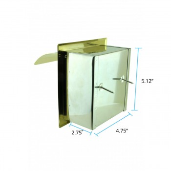 spec-<PRE>Recessed Toilet Paper Tissue Holder Gold Stainless Steel </PRE>