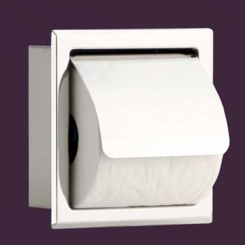 <PRE>Toilet Paper Holder Stainless Steel Polished With Lid </PRE>zoom2