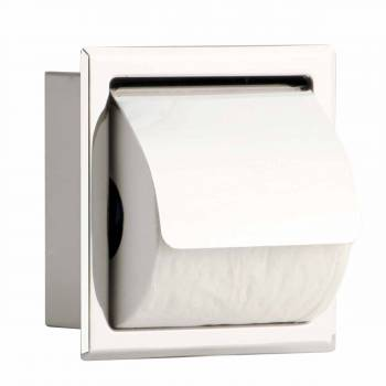 Toilet Paper Holder Stainless Steel Polished With Lid