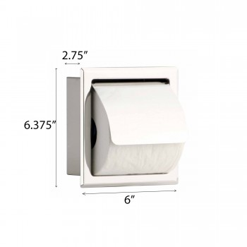 spec-<PRE>Toilet Paper Holder Stainless Steel Polished With Lid </PRE>