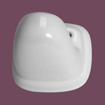 <PRE>Ceramic Single Robe Hook White Porcelain </PRE>