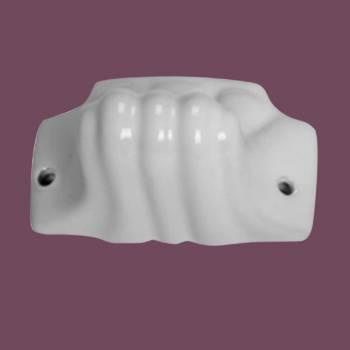 <PRE>Ceramic Single Robe Hook White Porcelain </PRE>zoom2