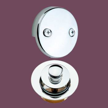 Tub Drain Overflow - Lift & Turn Drain & Overflow Plate Chrome by the Renovator's Supply