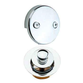 Lift & Turn Drain & Overflow Plate Chrome