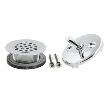 Filter Drain & Trip Lever Overflow Plate Chrome