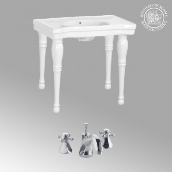 Belle Epoque White Vitreous China Belle Epoque Deluxe with Chrome Fauc