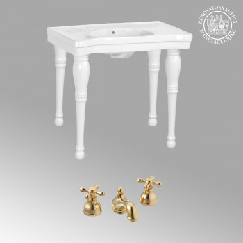 spec-<PRE>Console White Vitreous China Belle Epoque Console Only 13548/13289/131</PRE>