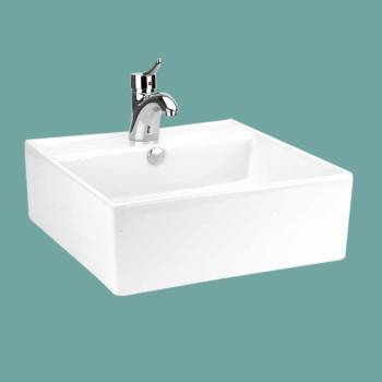 <PRE>Bathroom Vessel Sink White China Bostonian Square </PRE>zoom2