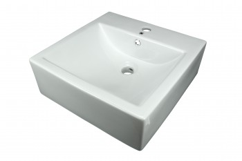 Bathroom Vessel Sink White China Bostonian Square 13845grid