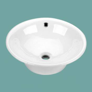 spec-<PRE>Bathroom Vessel Sink White China Evans Square </PRE>