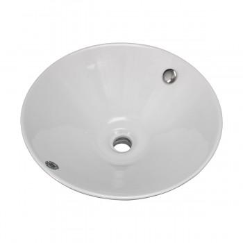 Bathroom Vessel Sink White China Evans Square bathroom vessel sinks Countertop vessel sink Bathroom Vessel Sink