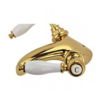 <PRE>Bathroom Sink Faucet Single Hole Double Levers Gold PVD </PRE>zoom7